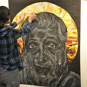 Student work from the Art and Social Justice Institute