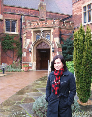 Danielle 'Dani' Hayes while attending the University of Cambridge.